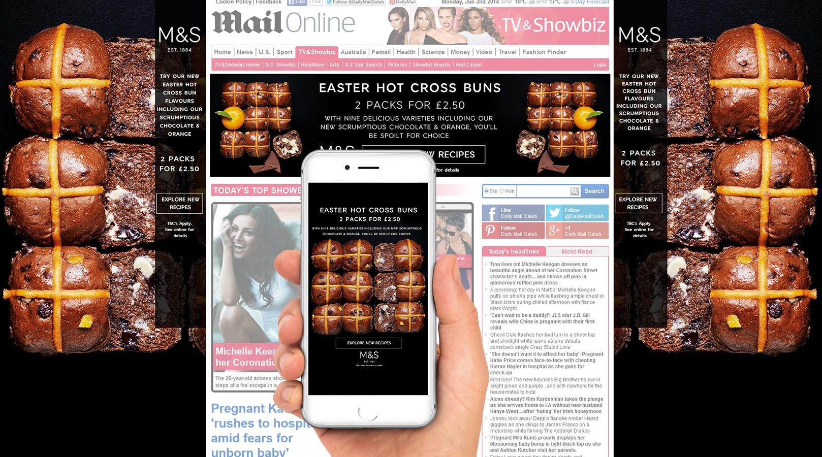 M&S Food – Desktop, Mobile Skins and Billboard