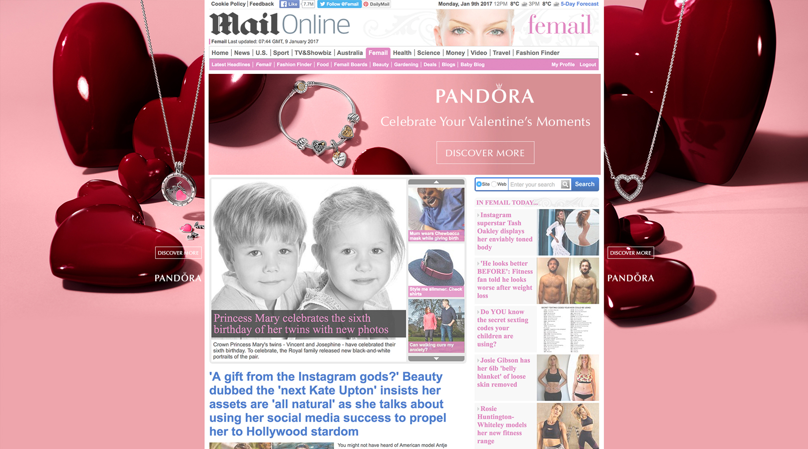 Pandora – Homepage takeover – Skins and Billboard