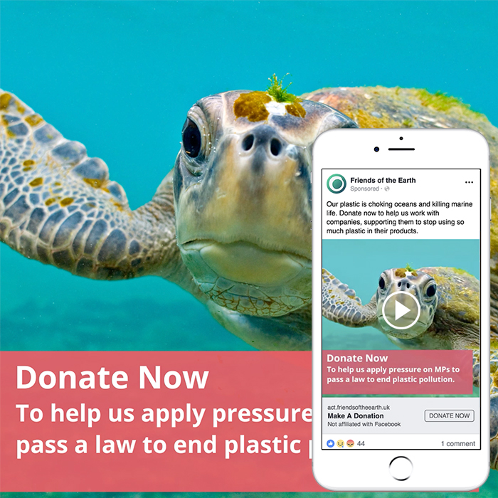 Friends of the Earth – Plastics Petition Social Media Campaign